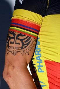 Quelques cyclistes tatoués